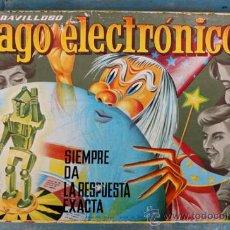 Juegos antiguos: ANTIGUO JUEGO EL MARAVILLOSO MAGO ELECTRONICO - AÑOS 60 - CON 4 CARTULINAS - EN - SIEMPR. Lote 28265264