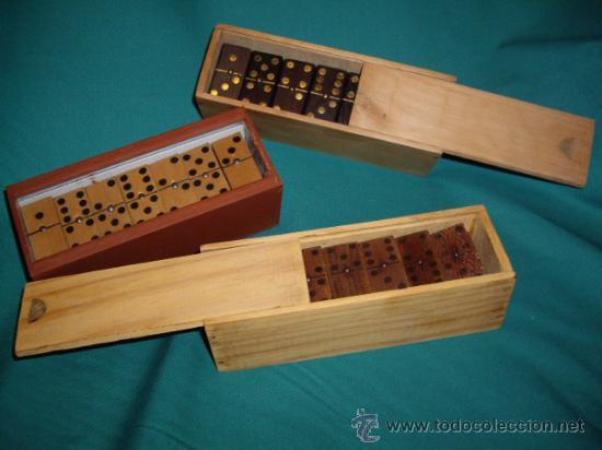 3 juegos de domino de madera completos anti comprar - Juguetes antiguos de madera ...