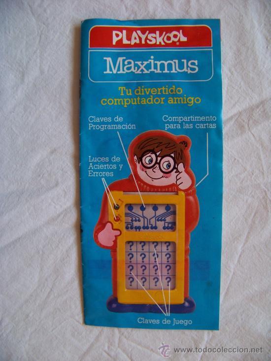 Juegos antiguos: PLAYSKOOL MAXIMUS PREGUNTAS Y RESPUESTAS - Foto 7 - 29437121