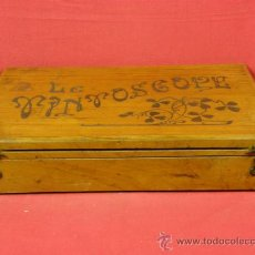 Juegos antiguos: TINTOSCOPE CAJA PINTURAS COMPLETA THÉORIE 3 COULEURS MEZCLA DE 3 COLORES FRANCIA PPIOS S XX. Lote 94395206
