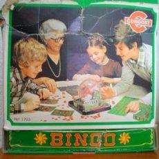Juegos antiguos: ANTIGUO BINGO CONGOST.AÑO 1972 CON CAJA ORIGINAL.. Lote 32067911