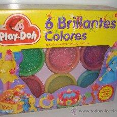 Juegos antiguos: PLAY DOH PLAYDOH PLASTILINA 6 BRILLANTES COLORES KENNER 1992. Lote 53121516