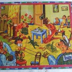Juegos antiguos: ANTIGUO ROMPECABEZAS DE CARTON LITOGRAFIADO AÑOS 40-50. Lote 36078539