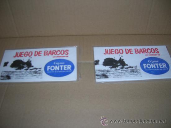 2 JUEGOS DE BARCOS OBSEQUIO AGUA FONTER. ESTAN PRECINTADOS, NUEVOS SIN ABRIR. VER INTERIOR. (Juguetes - Juegos - Otros)
