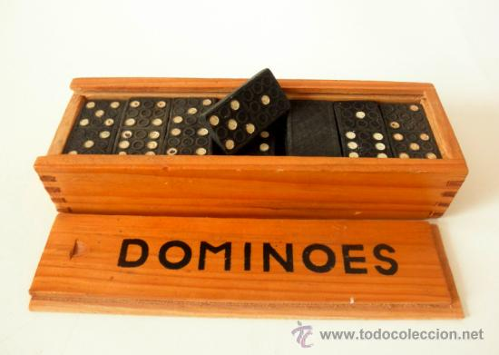 DOMINO VINTAGE * DOMINOES FICHAS DE PLASTICO (Juguetes - Juegos - Otros)