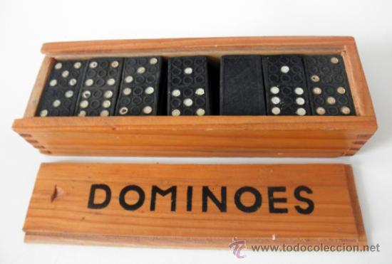 Juegos antiguos: DOMINO VINTAGE * DOMINOES FICHAS DE PLASTICO - Foto 4 - 36812281