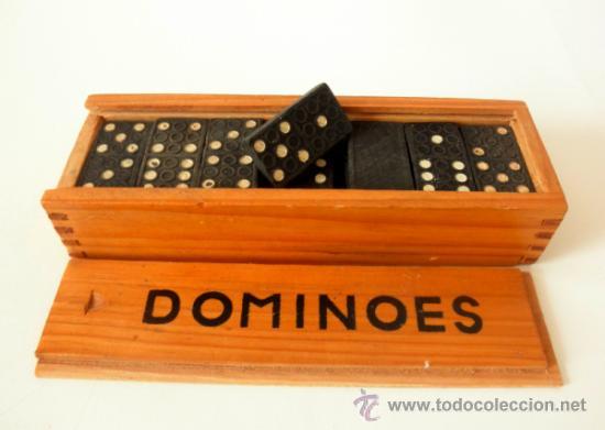 Juegos antiguos: DOMINO VINTAGE * DOMINOES FICHAS DE PLASTICO - Foto 5 - 36812281