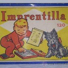 Juegos antiguos: ANTIGUO JUEGO DE IMPRENTA IMPRENTILLA INFANTIL DE LOS AÑOS 30 METALOFFSET 15X13 CMS. Lote 36928909