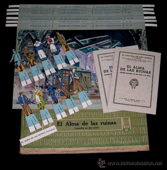 EL ALMA DE LAS RUINAS. EL TEATRO DE LOS NIÑOS, TEATRÍN, SEIX & BARRAL, BARCELONA AÑOS 20-30. (Juguetes - Juegos - Otros)