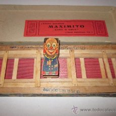 Juegos antiguos: MAXIMITO - CARA O CRUZ - JUEGO EN MADERA - PATENTADO -VER FOTOS ADIC.- (J-1). Lote 37594311