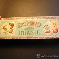 Juegos antiguos: ANTIGUO DOMINO INFANTIL. PIEZAS DE MADERA. ETIQUETA ENRIQUE BORRAS Y CIA. MATARÓ.. Lote 37745239