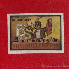 Juegos antiguos: 2 APARATOS PARA PRESTIGITACIÓN 'TENKIS' : 'LA HERENCIA DEL NIÑO' Y 'EL TUBO DE ALADINO'.12X10X10 CM. Lote 38740316