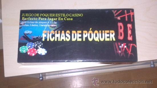 Juegos antiguos: Juego de poker estilo casino, con 100 fichas, baraja y dados - Foto 2 - 39236961