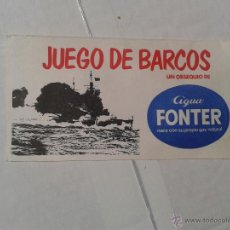 Juegos antiguos: CARTON JUEGO DE BARCOS AGUA FONTER. Lote 39909553