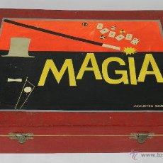 Juegos antiguos: JUEGO MAGIA BORRAS Nº 2 - EN CAJA DE MADERA - LE FALTAN COSAS - MIDE 42 X 32 X 11 CMS.. Lote 40084200