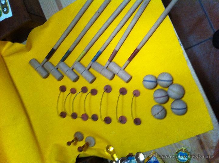 Juegos antiguos: Antiguo Juego de mini-croquet - Foto 2 - 40634107