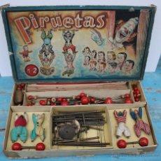 Juegos antiguos: MUY ANTIGUO PRECIOSO Y COMPLETISIMO JUEGO PIRUETAS NUMERO 2 - MUY ANTIGUO Y CURIOSO - CIRCO - PAYASO. Lote 41490765