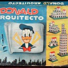 Juegos antiguos: DONALD ARQUITECTO. JUEGO DE CONSTRUCCION. WALT DISNEY.. Lote 42098827