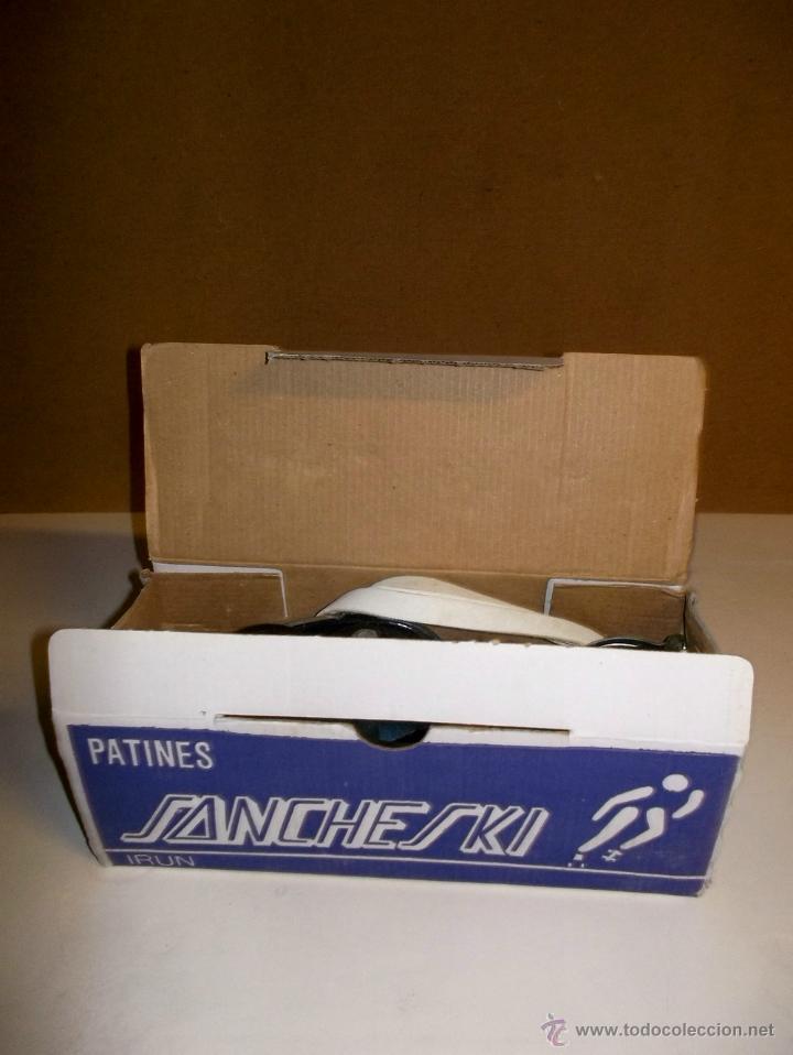 Juegos antiguos: Patines antiguos patinete patin vintage sancheski de hierro,nuevos , con su caja, correas y su llave - Foto 2 - 42680567