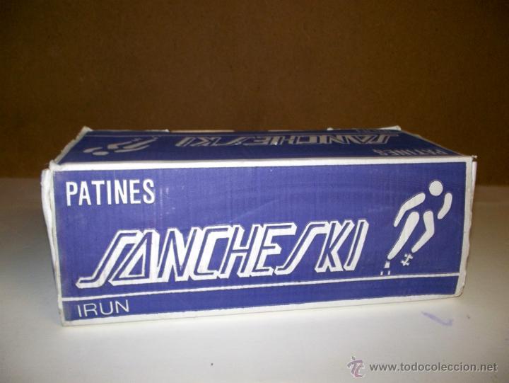 Juegos antiguos: Patines antiguos patinete patin vintage sancheski de hierro,nuevos , con su caja, correas y su llave - Foto 6 - 42680567