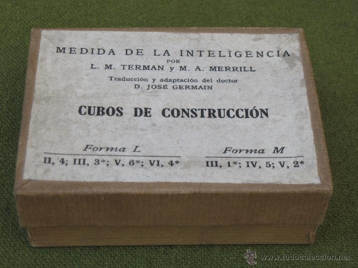 Juegos antiguos: MEDIDA DE LA INTELIGENCIA - CUBOS DE CONSTRUCCION. - Foto 2 - 42768926