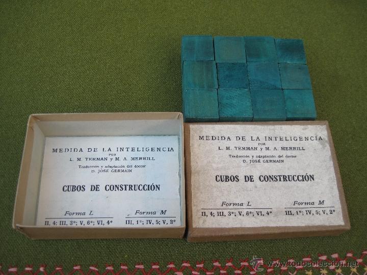 Juegos antiguos: MEDIDA DE LA INTELIGENCIA - CUBOS DE CONSTRUCCION. - Foto 3 - 42768926