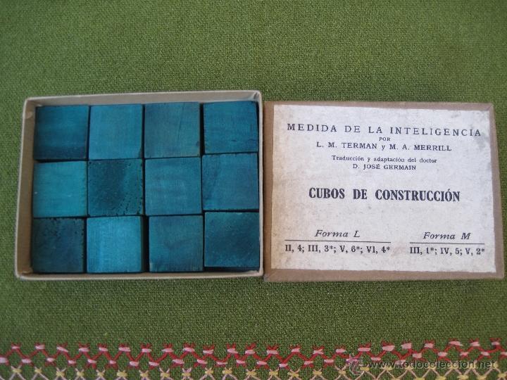 Juegos antiguos: MEDIDA DE LA INTELIGENCIA - CUBOS DE CONSTRUCCION. - Foto 4 - 42768926