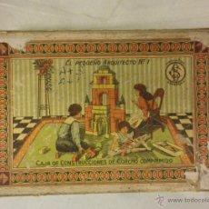 Juegos antiguos: JUEGO DE CONSTRUCCIÓN DE CORCHO EL PEQUEÑO ARQUITECTO. Lote 43533433
