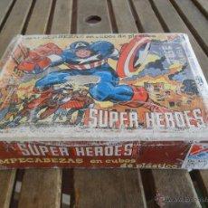 Juegos antiguos: ROMPECABEZAS EN CUBOS DE PLASTICO SUPER HEROES DE DALMAU CARLES. Lote 43668655