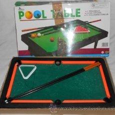 Juegos antiguos: POOL TABLE, PEQUEÑA MESA DE BILLAR. Lote 120481319