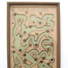 Juegos antiguos: JUEGO DE BOLAS CAMINO DE BERLIN O JUEGO ALIADO. MADERA Y CRISTAL. ÉPOCA GUERRA MUNDIAL. DENIA. Lote 44773550