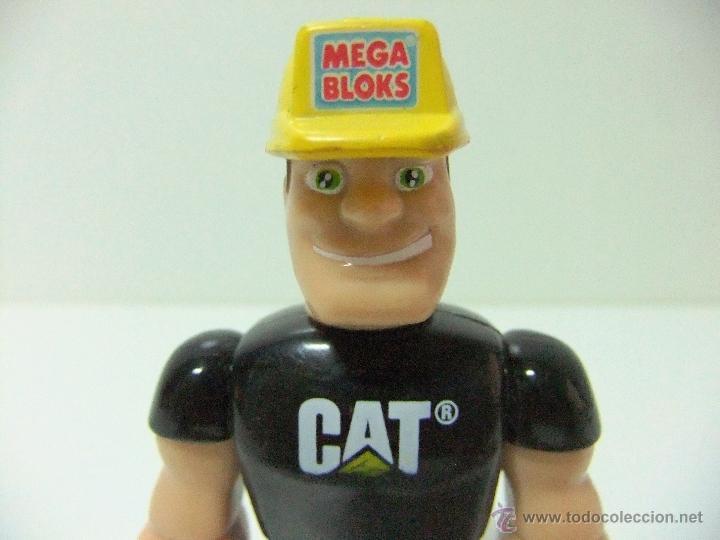 Juegos antiguos: FIGURA MEGABLOKS MEGA BLOKS - OPERARIO MAQUINARIA CAT CATERPILLAR - JUEGO CONSTRUCCION - Foto 3 - 45410360