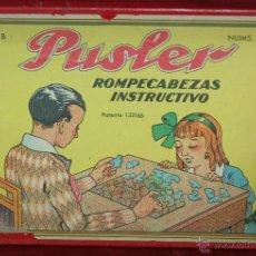 Juegos antiguos: PUSLER. ANTIGUO ROMPECABEZAS DE LOS AÑOS 40/50. Lote 45934879