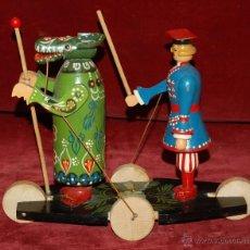 Juegos antiguos: JUGUETE EN MADERA CON MOVIMIENTO DE LOS AÑOS 60. Lote 45937521