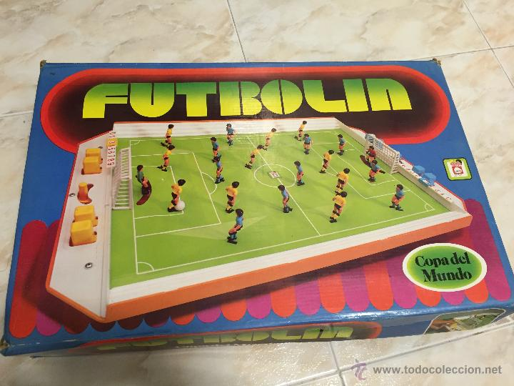 FUTBOLIN DE SOBREMESA CHICOS AÑOS 80 (Juguetes - Juegos - Otros)