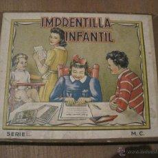Juegos antiguos: IMPRENTILLA INFANTIL SERIE E. Lote 47147661