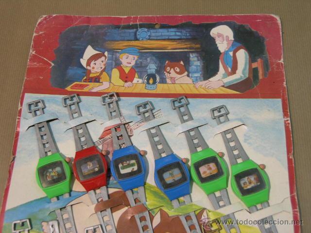 Juegos antiguos: EXPOSITOR COMPLETO 12 RELOJES HEIDI 1978 - Foto 2 - 47775995