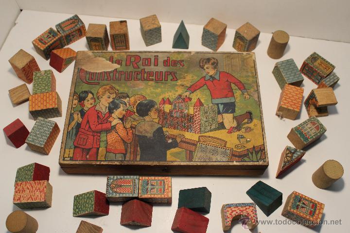 Muy Antiguo Juego De Construcciones Con Madera Comprar Juegos