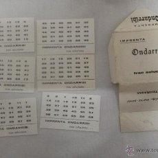 Juegos antiguos: JUEGO ANTIGUO BASADO EN EL SISTEMA BINARIO DE IMPRENTA ONDARRIBI ( FUENTERRABIA). Lote 49195043