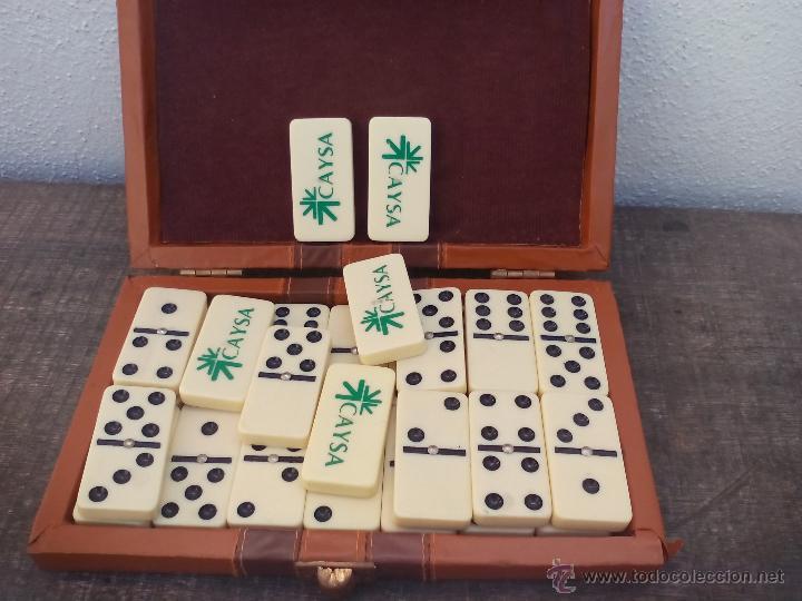 Juegos antiguos: Juego dominó en su estuche. 19,5 x 12. Completo. - Foto 2 - 49429525