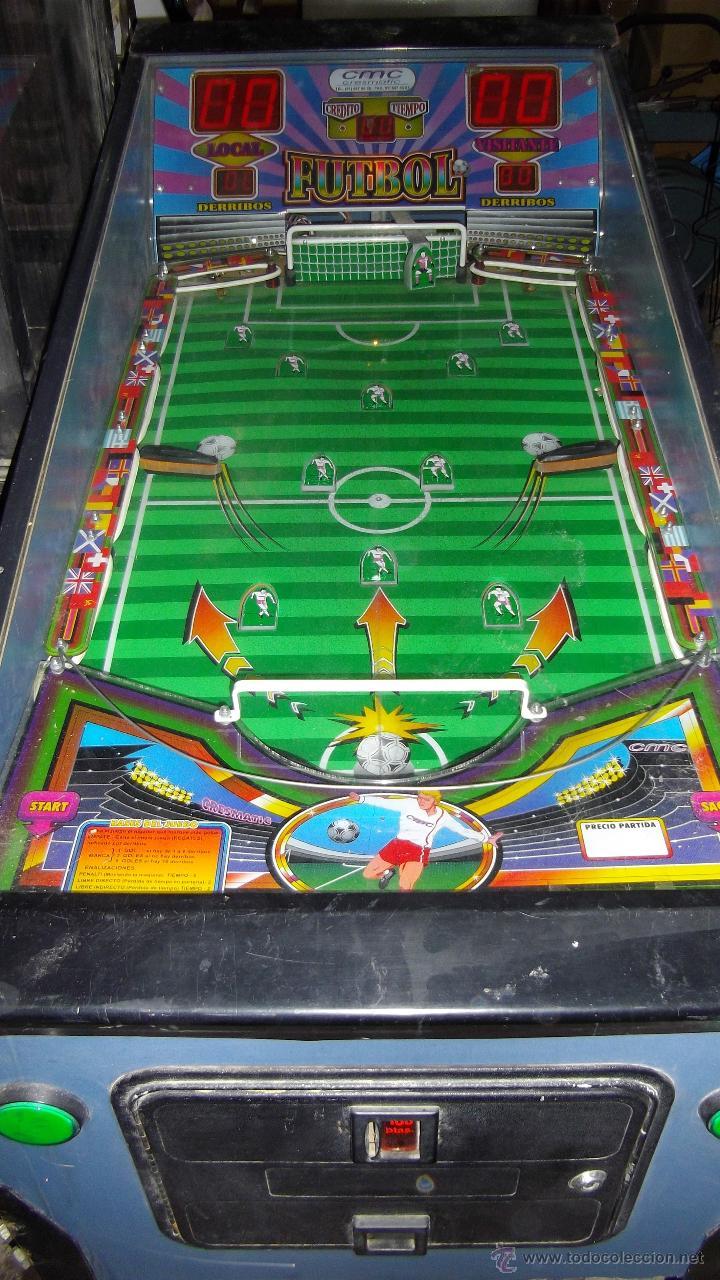 Maquina De Pinball Motivo Futbol Comprar Juegos Antiguos Variados