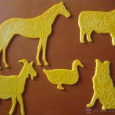 Juegos antiguos: LOTE DE 5 PLANTILLAS DE ANIMALES GALT TOYS - ANTIGUAS. Lote 50727528