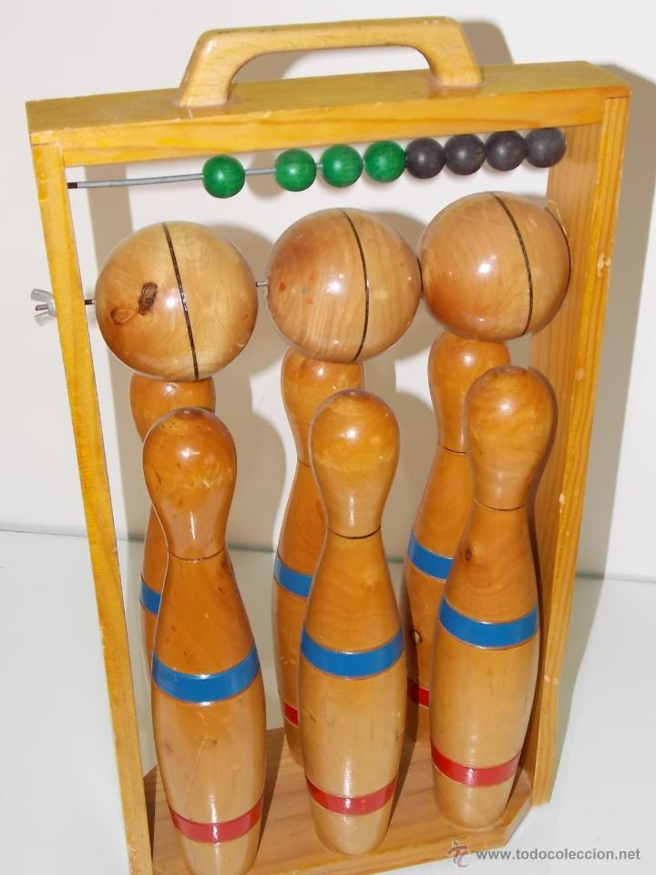 Juguete Antiguo Bolos De Madera Anos 70 Comprar Juegos Antiguos