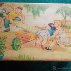 Juegos antiguos: CAJA DE MADERA DE COSTURA MUY ANTIGUA DE JUGUETE. Lote 54665053