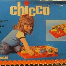 Juegos antiguos: M69 PRECIOSO JUEGO MINIMARKET SUPERMERCADO A PISTA MAGNETICA CHICCO AÑOS 70-80 NUEVO. Lote 54706878