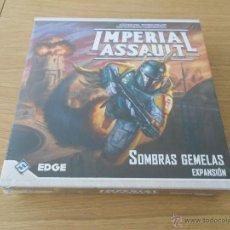 Juegos antiguos: STAR WARS: IMPERIAL ASSAULT - SOMBRAS GEMELAS - EDGE - JUEGO DE AVENTURAS Y ESTRATEGIA - MINIATURAS. Lote 54743695