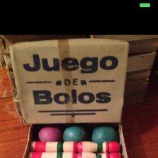Juegos antiguos: JUEGO DE BOLOS ORIGINAL DE 1930-40. Lote 54855232