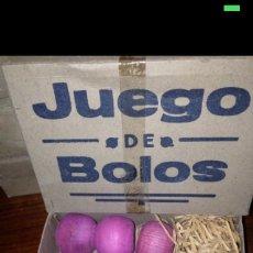 Juegos antiguos: JUEGO DE BOLOS TAMAÑO MEDIO 1930-40. Lote 54855249