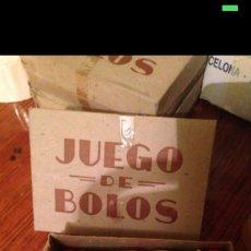 Juegos antiguos: JUEGO DE BOLOS MEDIANO 1930-40. Lote 54855359