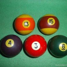 Juegos antiguos: DECORATIVO LOTE BOLA BILLAR ANTIGUO VINTAGE COLECCIÓN. Lote 55145880